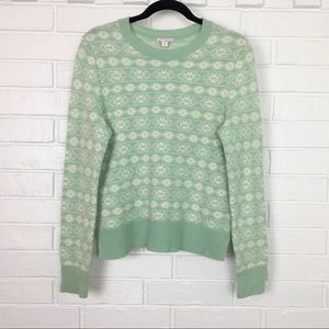Gap Mint Fair Isle Themed Medium Sweater